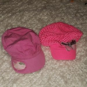 BCG and Justice girls hats